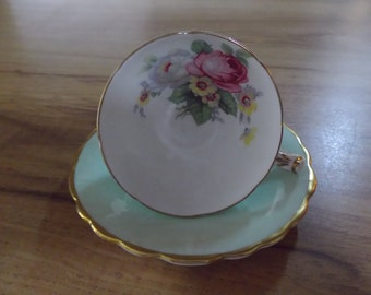 Paragon China Demitasse Footed Cup and Saucer