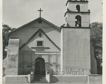 San Buenaventura Mission antique photo California