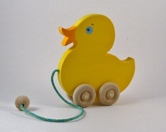 Baby Duckling Pull Toy ** Yellow Duck ** Duck Pull Toy