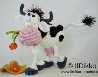 Amigurumi Crochet Pattern - Moo-na Lisa
