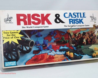 Risk and Castle Risk from Parker Brothers 1990 COMPLETE w some New Parts (read description)