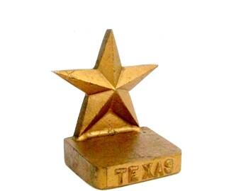 Vintage Door Stop, Texas Cast Iron Door Stop, Lone Star State Doorstop, Cast Iron Texas Lone Star, Very Heavy, Rustic Country Western