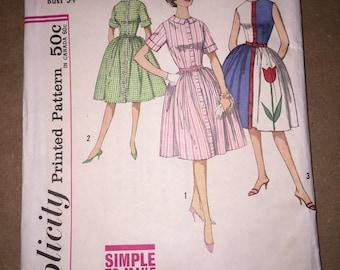 Vintage 1960s Simplicity 4326 Dress Pattern, Size 14