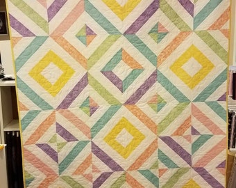 """Summer in the Park Lap  Quilt 50"""" X 66"""" - On Sale"""