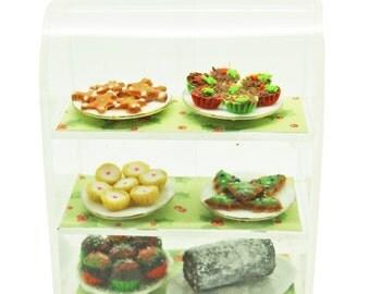 Christmas Treats Deli Cafe Tearoom Display  - Miniature 1:12 Scale Food