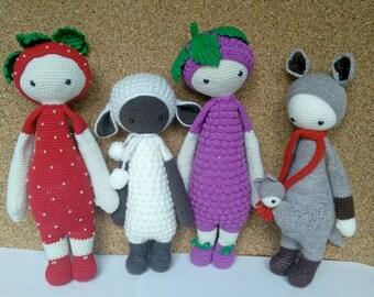 Crochet doll Lalylala Strawberry Grape Sheep Kangaroo