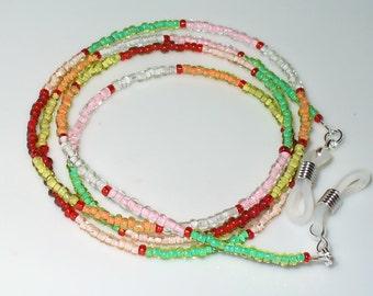 Coloured glasses necklace, Harlequin 72 cm (141)