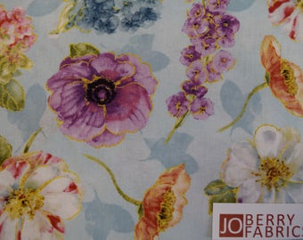 Floral Fabric from Rainbow Seeds Collection by Lisa Audit for Wilmington Prints. Quilt or Craft Fabric, Fabric by the Yard.