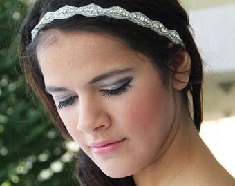 Bridal Rhinestone Headband, Wedding  Rhinestone Headband, Wedding Accessories, Hair Accessories for Wedding