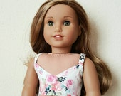 Spaghetti Strap Floral Crop Top for 18 inch dolls by The Glam Doll - Floral