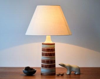 Tall! Vintage Danish - huge lamp base - Mørkøv Keramik - ethnic decor - Danish mid century pottery