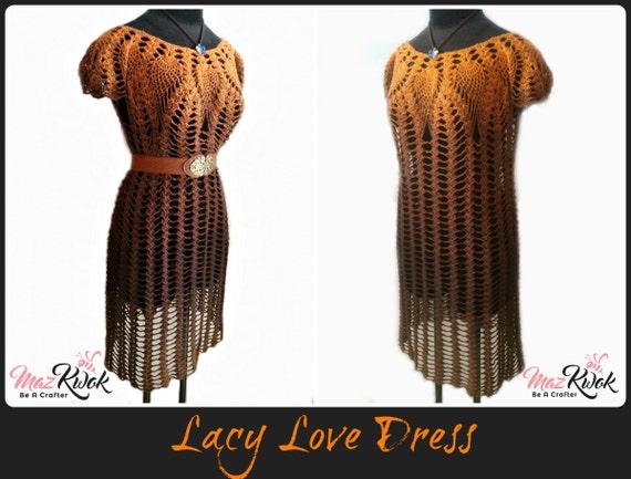 Lacy Love dress pdf crochet pattern ( size S - 3XL )