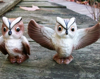 Vintage Owl Salt and Pepper Shakers Napco Japan