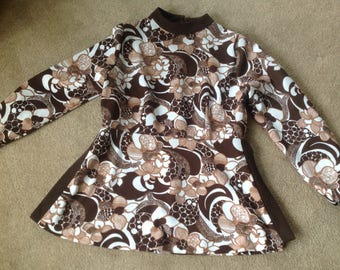Vintage Multi Brown and White Tunic Top