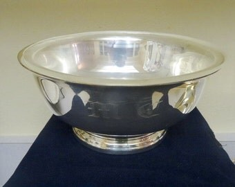 Gorham Vintage Silver Revere Bowl with Insert and Monogram