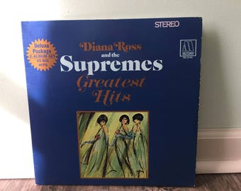 """Diana Ross and the Supremes """"Greatest Hits"""" vinyl record"""