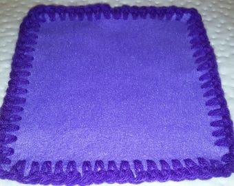 Fleece Crochet Edge Baby Cuddle Blanket in Various Colors