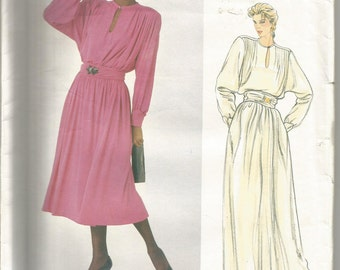 Vogue Paris Original Sewing Pattern 1010, Christian Dior Vintage Dress and Belt, Size 12, Uncut