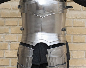 "Larp, fantasy, kinght, medieval costume, armour, larp armor,  steel armor: cuirass (front and back) ""Titan"""