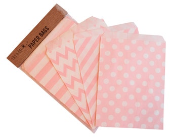 Party Paper Bags Set of 100 Bags  - 11 colours to choose from