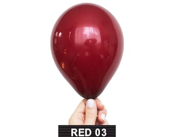 RED-03 : Mini Burgundy Red Latex Balloons (15 balloons per package)