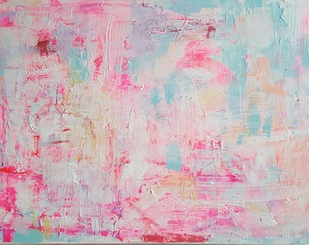 Abstract acrylic painting size 20 x 29 inch canvas