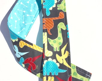 Padded Camera Strap Cover Neck Strap- REVERSIBLE- Padded- DSLR Dinosaurs Turquoise Arrows Photographer Thank You Gift, Photography