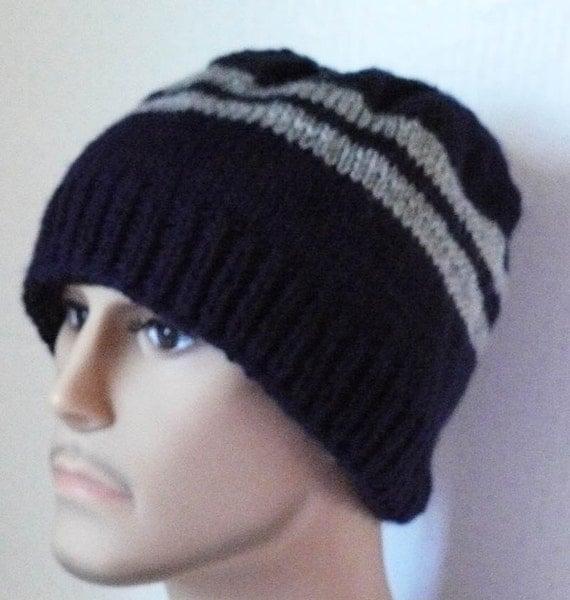 Knitting PATTERN, Knit Beanie Pattern, Mens Knit Hats ...