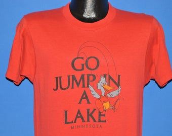 80s Go Jump In A Lake Minnesota Bird t-shirt Medium