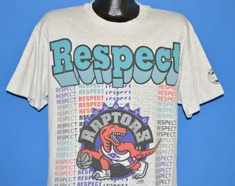 90s Toronto Raptors Respect In the Paint t-shirt Large