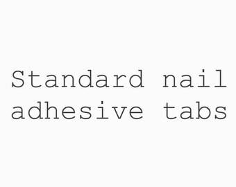 Standard nail adhesive tabs and mini file