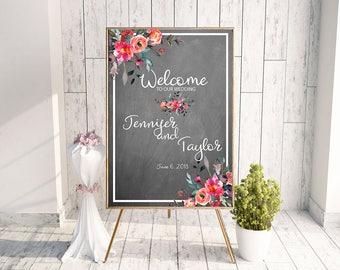 Summer wedding sign, chalk board sign, custom chalk board, wedding chalk board, ceremony sign, custom chalk board, wedding chalk board large