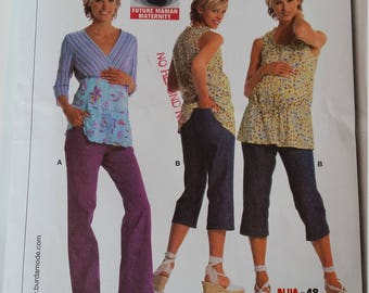 Burda Sewing Pattern 8095 Misses' Maternity Pants in size 10, 12, 14, 16, 18, 20, 22
