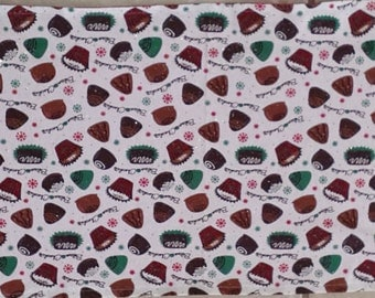 Christmas Table Runner Double Sided Chocolates & Greetings Handmade Free Postage