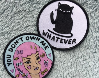 Patch DUO! you don't own me - whatever - Lovestruck prints