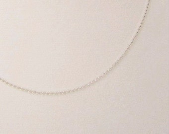 "18"" Sterling Silver chain necklace, 18 inch silver chain, Rolo link, silver necklace chain, rolo necklace, rolo chain, 18"" chain"
