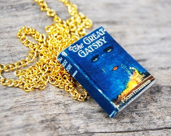the great gatsby's  mini book necklace