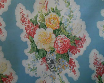"Fabulous Travers ""BROOKHILL CHINTZ"" Fabric 5.25+ yards Great Price! Gorgeous Floral in Chinoiserie vase with a vintage vibe"