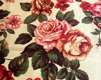 Beautiful retro vintage fabric from the 60s. Sandersons. in fantastic condition. cotton