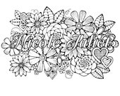Flower Coloring Page to Print and Color, Nature, Flowers, Adult Coloring Page. Original Instant Digital Download