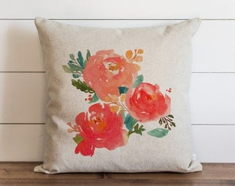 Floral 20 x 20 Pillow Cover // Everyday // Throw Pillow // Gift // Accent // Cushion Cover