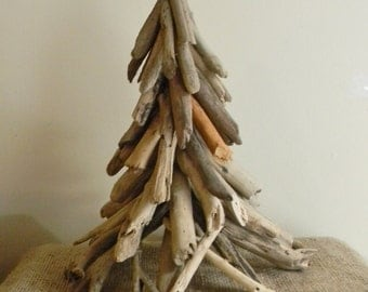 Driftwood tree etsy for Hanging driftwood christmas tree