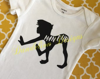 Man Cub Shirt Bodysuit Jungle Book bodysuit Mother and Son Baby Boy Shower Gift Long Sleeve Short Sleeve Custom Personalized Jungle Cub