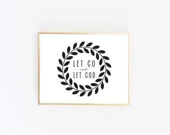 DIGITAL DOWNLOAD >>> Let Go and Let God Print