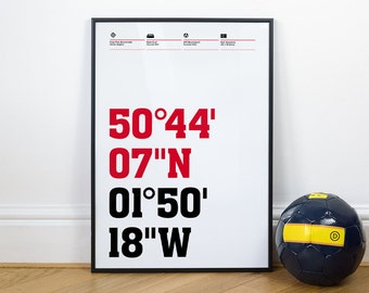 Bournemouth Football Stadium Coordinates Posters