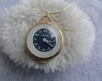 Lucerne Wind Up Vintage Necklace Pendant Watch