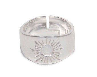 Mens Ring Womens Ring - 1037 - sun ring, sun silver ring, hippie ring, hippy ring, boho ring, bohemian ring, inca ring, magic ring, jewelry