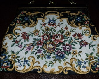Vintage paray tapestry purse
