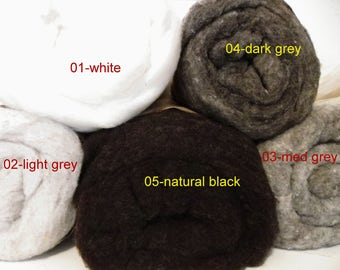 Felting Wool Batt, Canadian Wool, wet felting, needle felting, wool batting