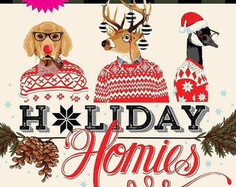 Holiday Homies by Tula Pink Fat Quarter Bundle